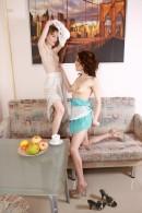 Lizaveta K & Vasilisa in hairy lesbians gallery from ATKPETITES - #14