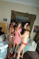 Ana Foxxx & Alex Chance & Presley Hart in lesbian gallery from ATKPETITES - #9