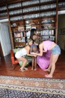 Ana Foxxx & Alex Chance & Presley Hart in lesbian gallery from ATKPETITES - #1