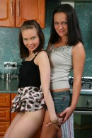 Mila & Dasha in hairy lesbians gallery from ATKPETITES - #8