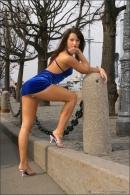 Julia in Blue Velvet gallery from MPLSTUDIOS by Alexander Fedorov - #15