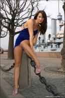 Julia in Blue Velvet gallery from MPLSTUDIOS by Alexander Fedorov - #3