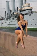 Julia in Blue Velvet gallery from MPLSTUDIOS by Alexander Fedorov - #7