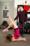 Kira D in Flexible Teen Spreads Her Legs Wide Open gallery from CLUBSEVENTEEN - #13