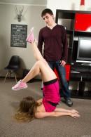 Kira D in Flexible Teen Spreads Her Legs Wide Open gallery from CLUBSEVENTEEN - #15
