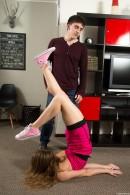 Kira D in Flexible Teen Spreads Her Legs Wide Open gallery from CLUBSEVENTEEN - #5