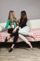 Nikol B & Sofia D in Young Lesbian Girls Toying Each Other gallery from CLUBSEVENTEEN - #11