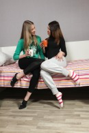 Nikol B & Sofia D in Young Lesbian Girls Toying Each Other gallery from CLUBSEVENTEEN - #12