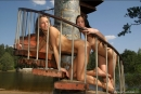 Vika And Maria in Stairway To Heaven gallery from MPLSTUDIOS by Alexander Fedorov - #1
