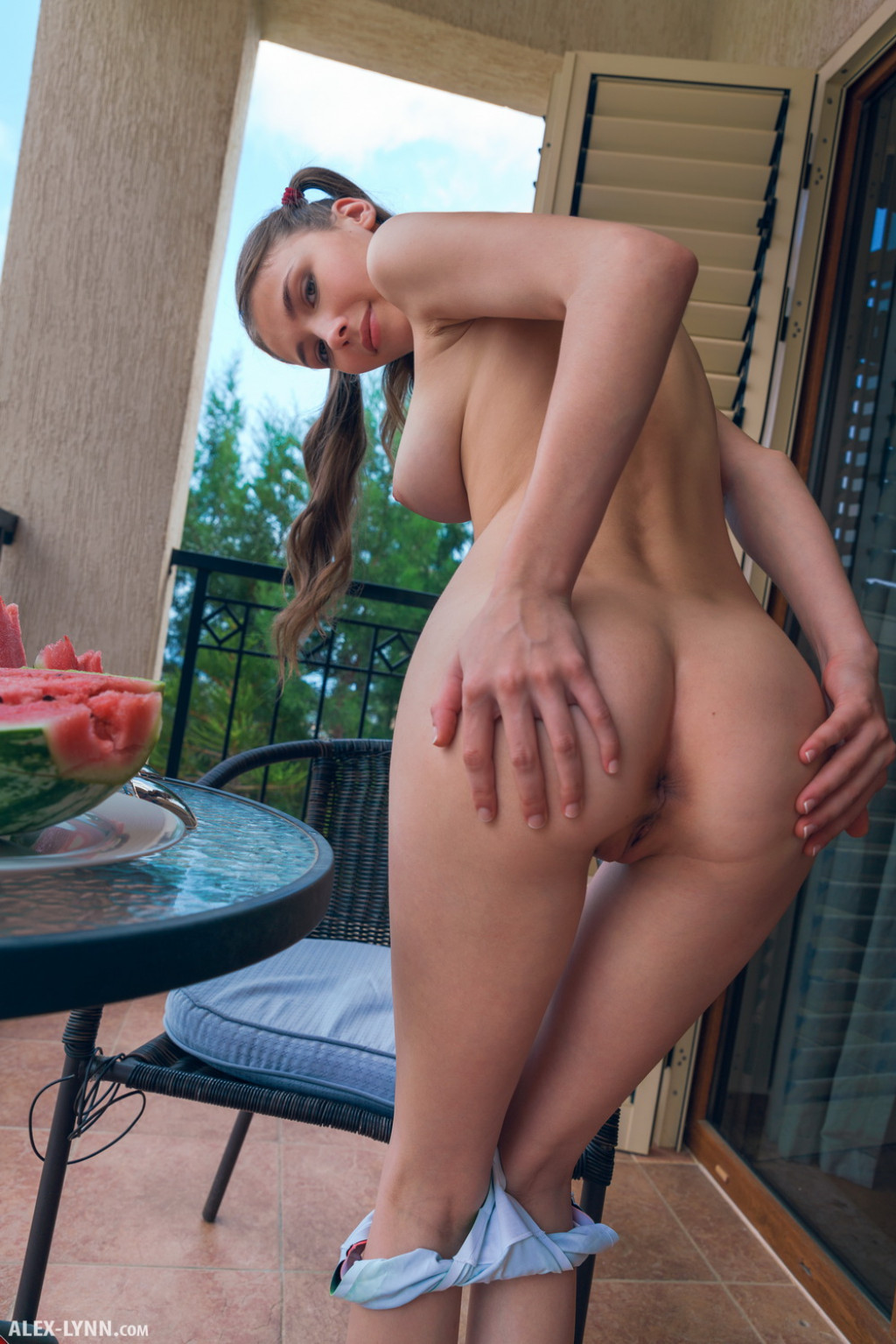 Mila Azul Nude Pics In Watermelon Shot By Alex Lynn-3608