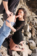 Verona Sky in VIP Distraction: Hot Babe Blows Boyfriend's Cock On Beach gallery from ONLYBLOWJOB - #11