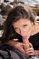 Verona Sky in VIP Distraction: Hot Babe Blows Boyfriend's Cock On Beach gallery from ONLYBLOWJOB - #15