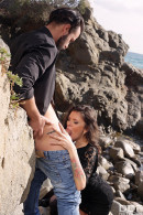 Verona Sky in VIP Distraction: Hot Babe Blows Boyfriend's Cock On Beach gallery from ONLYBLOWJOB - #6