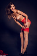 Monika Dee in Red & Black gallery from ALEX-LYNN by Alex Lynn - #5