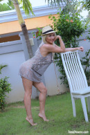 Isabella B In A Short Dress And Hat Getting Naked Under A Palmtree gallery from TEENDREAMS - #11