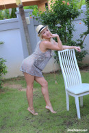 Isabella B In A Short Dress And Hat Getting Naked Under A Palmtree gallery from TEENDREAMS - #14