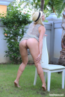 Isabella B In A Short Dress And Hat Getting Naked Under A Palmtree gallery from TEENDREAMS - #5