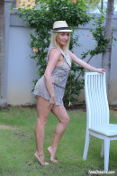 Isabella B In A Short Dress And Hat Getting Naked Under A Palmtree gallery from TEENDREAMS - #7
