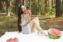 Leona Mia in Watermelon gallery from METART by Flora - #16