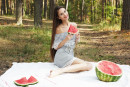 Leona Mia in Watermelon gallery from METART by Flora - #8