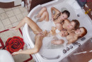 Milena Angel & Mary Che & Alisa Bri & Sonya in Bathing Time gallery from MILENA ANGEL by Erik Latika - #14